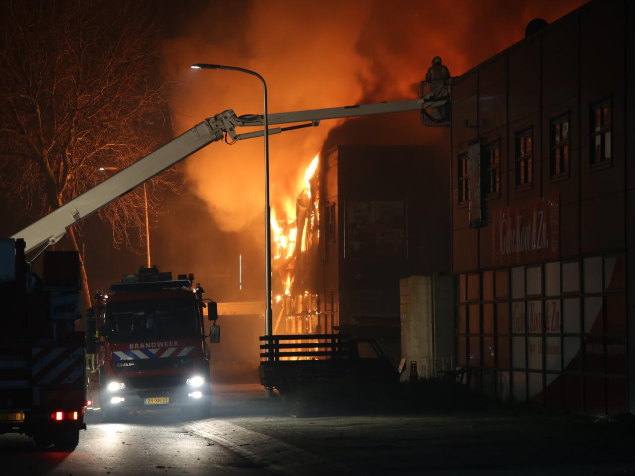 brand in huis grote brand